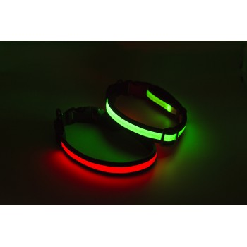 Collier chien lumineux nylon USB Arka Haok Orange