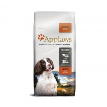 Croquette chien Poulet Adulte small/medium Applaws grain free 15kg