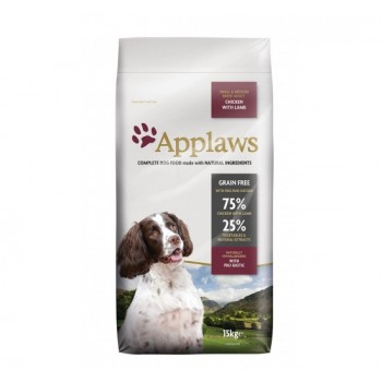 Poulet & agneau Adulte small/medium Applaws grain free pour chien 15kg