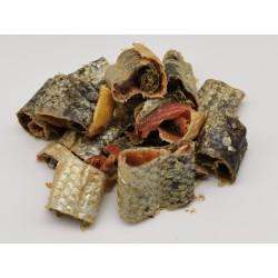 Peau de saumon avec viande - friandise naturelle pour chien